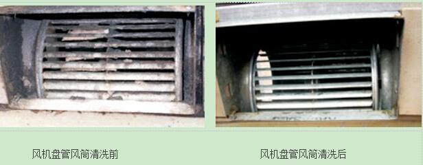 中央空调是一个复杂的系统,每个部件紧密联系,相互作用而又相互关联,其中任何一个设备出现问题,都会影响到整个空调的运行和性能效果。中央空调的风机盘管是中央空调主机末端设备的一部分,风机盘管通常直接安装在空调房间内,其质量和运行状态将影响到室内的噪声水平和空气质量。因此的中央空调的风机盘管清洗及日常维护保养不可少,这样能保证风机盘管正常发挥作用 中央空调风机盘管使用一段时间后,翅片与叶轮上会积有灰尘与病菌,当灰尘达到一定厚度时,翅片散热效果将会受到影响,从而导致房间温度达不到要求。此外,长期不清洗的风机盘管会
